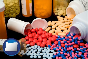 pharmaceutical products - with Oregon icon
