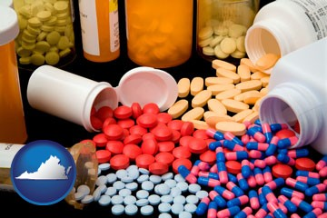 pharmaceutical products - with Virginia icon