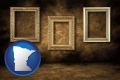 minnesota three gilded picture frames