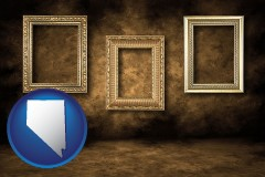 nevada three gilded picture frames