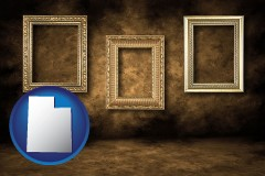 utah three gilded picture frames
