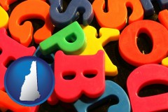 new-hampshire colorful plastic letters