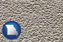 missouri map icon and molded plastic surface material