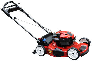 a red power lawn mower