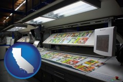 ca a commercial offset printing press