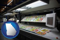 ga a commercial offset printing press