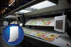 in a commercial offset printing press