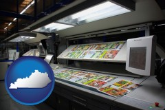 ky a commercial offset printing press