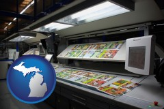 mi a commercial offset printing press