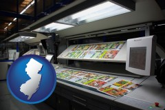 nj a commercial offset printing press