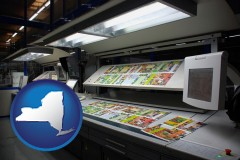 ny a commercial offset printing press