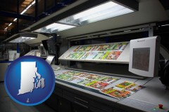 ri a commercial offset printing press