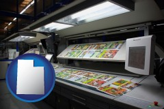 ut a commercial offset printing press