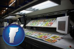 vt a commercial offset printing press