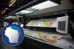 wi a commercial offset printing press
