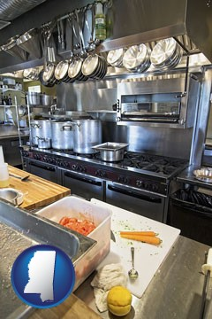 a restaurant kitchen - with Mississippi icon