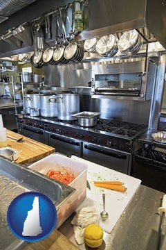 a restaurant kitchen - with New Hampshire icon