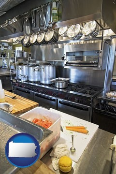 a restaurant kitchen - with Pennsylvania icon