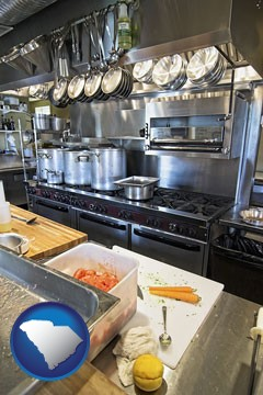a restaurant kitchen - with South Carolina icon