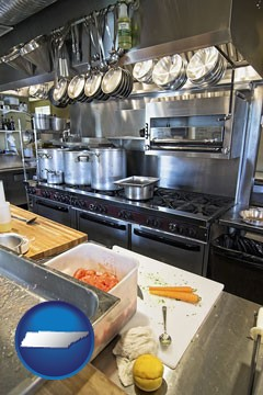 a restaurant kitchen - with Tennessee icon