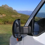 an rv rear view mirror