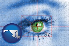 maryland an iris-scanning security system