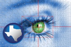 texas an iris-scanning security system