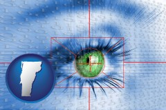 vermont an iris-scanning security system