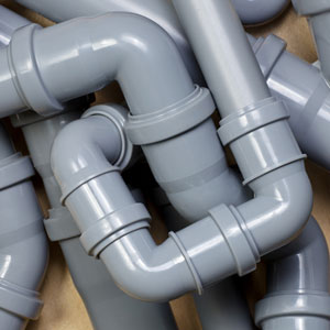 gray sewer pipes