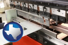 texas a sheet metal bending machine