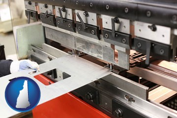 a sheet metal bending machine - with New Hampshire icon