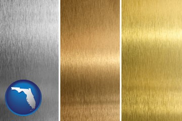 sheet metal surface textures - with Florida icon