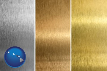 sheet metal surface textures - with Hawaii icon