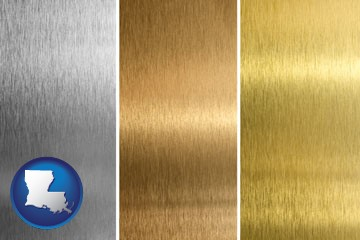 sheet metal surface textures - with Louisiana icon