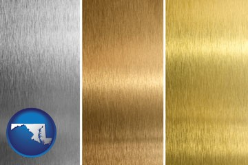 sheet metal surface textures - with Maryland icon