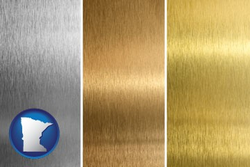 sheet metal surface textures - with Minnesota icon