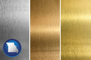 sheet metal surface textures - with Missouri icon
