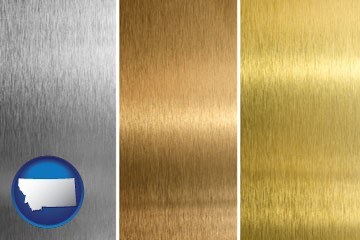 sheet metal surface textures - with Montana icon