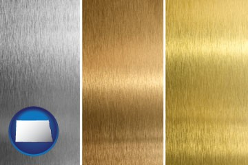 sheet metal surface textures - with North Dakota icon