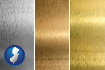 sheet metal surface textures - with New Jersey icon