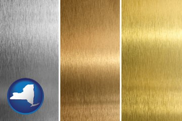 sheet metal surface textures - with New York icon