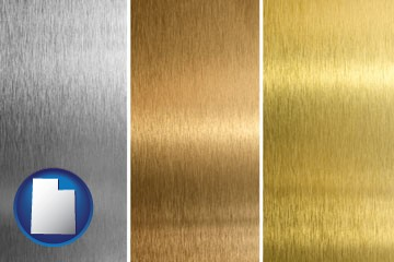 sheet metal surface textures - with Utah icon