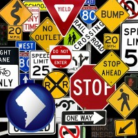 washington-dc road signs