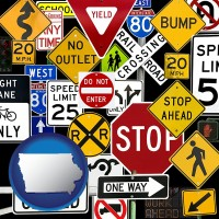 iowa road signs