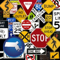massachusetts road signs