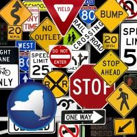 new-york road signs