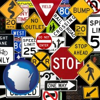 wisconsin road signs