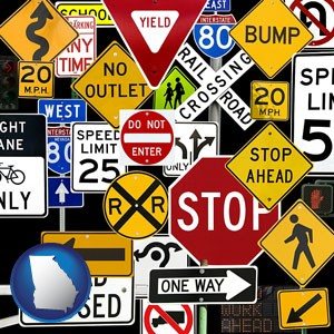 road signs - with Georgia icon