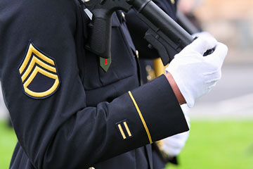 a United States Army soldier in uniform