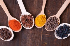 six spoonfuls of spices